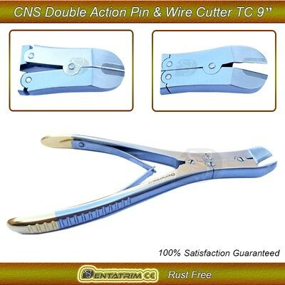 """TC Pin Wire Cutter Double Action CNS 9"""" Orthopedic Surgical Instruments CE"""