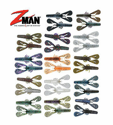 "Z Man Turbo Crawz 4"" 6 Pack Soft Body Swim Jig ChatterBait Trailer Fishing Lure"