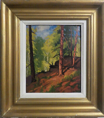 Vintage Oil On Board Painting by Canadian Artist George A. Kulmala (1896-1940)