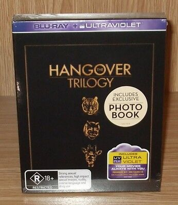 The Hangover Trilogy (3-Movie Collection) Blu-rays + Photo Book New & Sealed