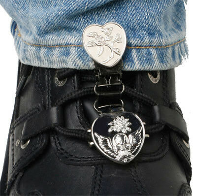Ryder Clips HSLC-FC Laced Boots Two Clip Version Heart Skull/Chrome
