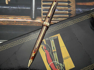 OMAS Old style Paragon Extra Arco Brown Ballpoint Pen BP w/ gold plated trimming