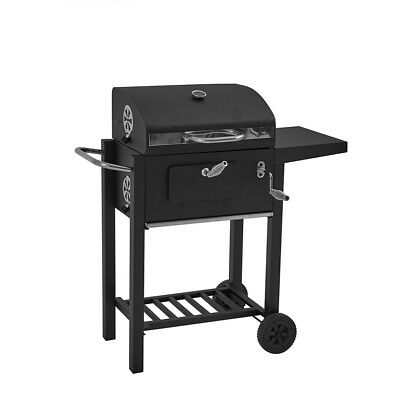 Deluxe Charcoal BBQ Garden Trolley Large Outdoor Stainless Steel Frill Barbecue