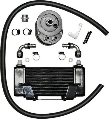 Jagg Oil Coolers 750-2400 Horizontal 10 Row Oil Cooler Black Low Mount