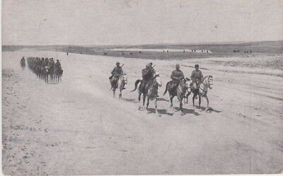 Palestine-1915 WW 1 Ottoman period Turkish Army marching to Gaza postcard cover