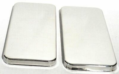 sleeper vent door covers(2) plain stainless steel for Peterbilt 379 359 air vent