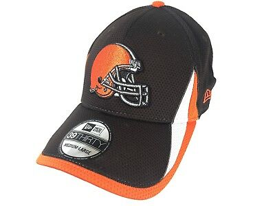 3bcb9c823df413 Cleveland Browns New Era 39THIRTY Hat NFL Fitted Brown Cap Small-Medium S-M  NEW
