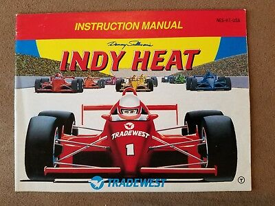 Indy Heat NES Nintendo Manual Only Instructions Booklet Rare