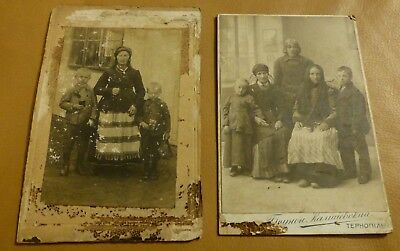 2 Late 1800s Early 1900s Antique Russian family photo photograph set