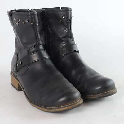 f2b8bb91b10f5 CLARKS WOMENS UK Size 3.5 Black Leather Ankle Boots - $88.02 | PicClick