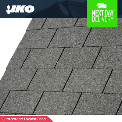 Roofing Felt Shingles | Shed Roof Felt Tiles | IKO Felt | Slate Grey Square butt