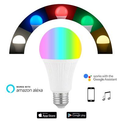 E27 B22 Smart Wifi Bulb RGB Rgbw Dimmable Led Lamp Bulbs Work