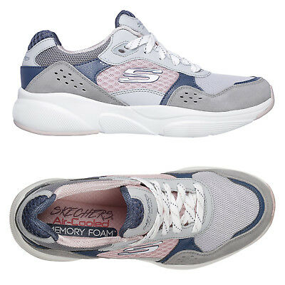 a38e9d9e96 Skechers Womens Meridian Charted Trainers Ladies Air Cooled Memory Foam  Sneakers