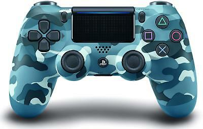 Genuine Sony DualShock 4 Wireless Controller - PlayStation 4 Blue Camouflage VG