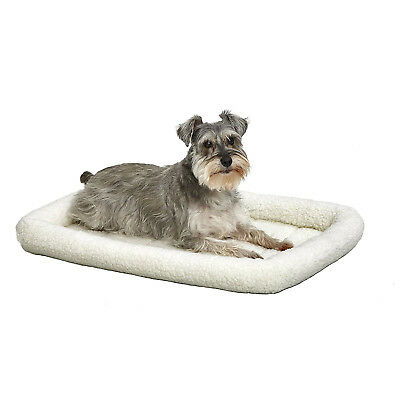 MidWest QuietTime Deluxe Fleece Bolster Pet Bed for Dogs & Cats 30-inch Bed