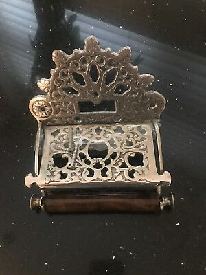 Edwardian/ Victorian Toilet Roll Holder Vintage Retro Nickel Finish
