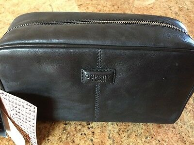 55ee27a090 Osprey London Men Leather Travel Toiletry Grooming Bag Wash-bag Med-Lg New