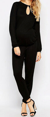 Maternity Jumpsuit With Drape Back & Mesh Insert ~ 10 UK BNWT ~ Black ~
