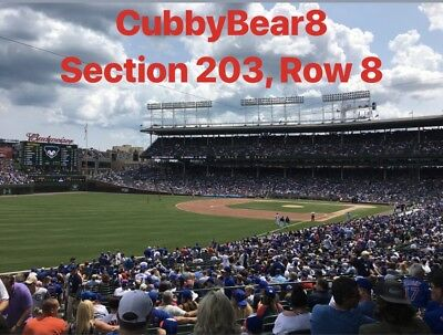 (4) Chicago Cubs Tickets vs Padres 7/20/19  Sec 203 Lowers NO POLES