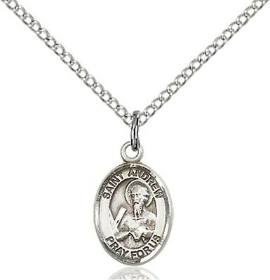 Sterling Silver Saint Andrew the Apostle Charm Medal, 1/2 Inch