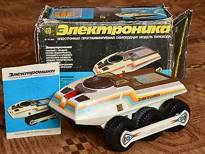 ULTRA RARE! VTG Russian Soviet TOY SPACE Electronica IM11 robot Car LUNOKHOD old