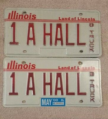 ILLINOIS REPLACEMENT Vanity License Plate