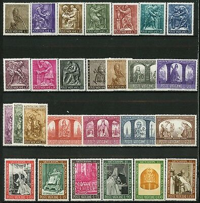 Vatican City 1966 Complete Year Set MNH 27 Stamps Mi 490 to 516