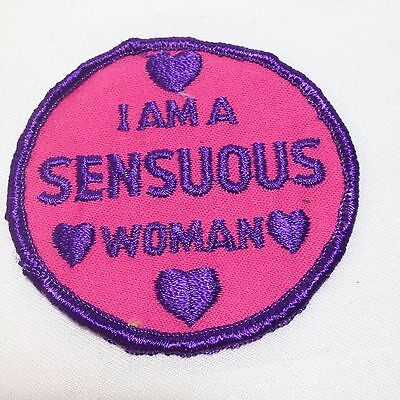 Vtg Sew On Patch Sensuous Woman Embroidered Biker