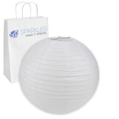 """5 pcs 20"""" inch Chinese Paper Lantern - White - Wedding Party Event Decoratio dl"""
