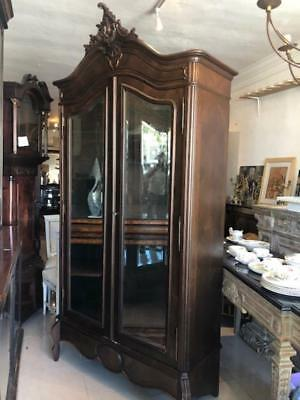 Antique French Armoire Mirrored Doors