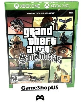 Grand Theft Auto San Andreas for Microsoft Xbox One Xbox 360 GTA XB1 NEW SEALED