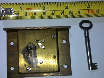 Hobbs and Co drawer lock, 72 mm, 4 lever, antique or vintage (OA1)