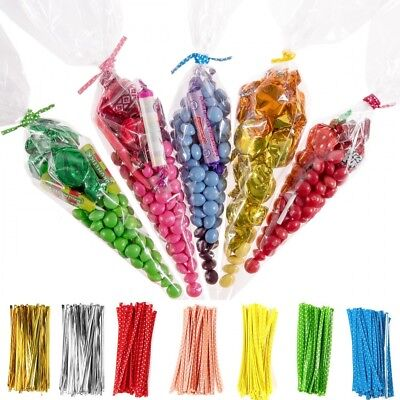 CLEAR CELLOPHANE CONE BAGS LARGE FOOD SWEET CANDY KIDS Party Favour Cones cello