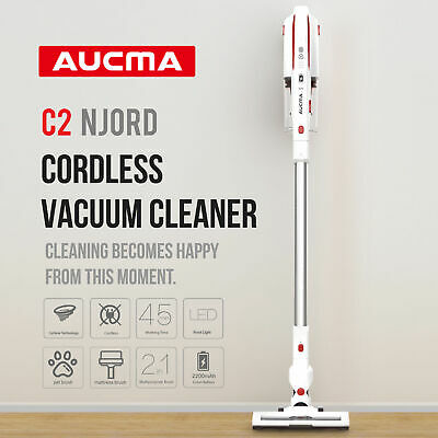 AUCMA Cordless Stick Vacuums Cleaner Lightweight LED Handheld Bagless Cleaner