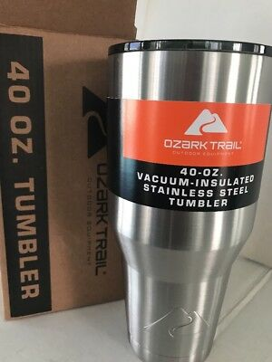 f50a6fa3d6d Ozark Trail 40 OZ. Vacuum-Insulated Stainless Steel Tumbler with Lid NEW