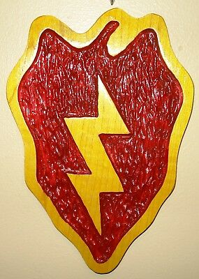 25th Infantry Division Patch,Wood Carving, 25ID, Tropic Lighting