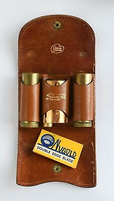 Grimes Shave-Pak with Gillette Gold-Toned Safety Razor, Brush, Soap and 1 Blade