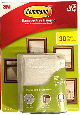 3m Command Damage Free Large Picture Hanging Strips Package