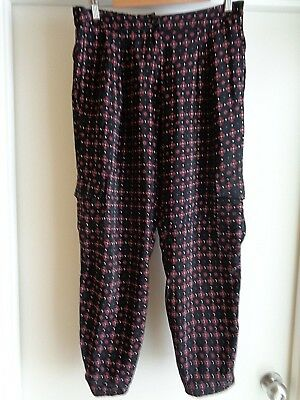 Country Road Print Detail Ankle Pant, Size 12, NWOT