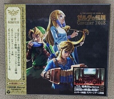 New The Legend of Zelda Concert 2018 First Limited Edition 2 CD Blu-ray Japan