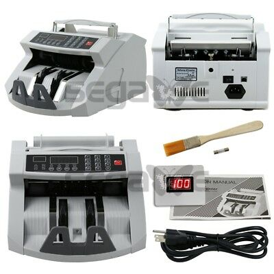 Money Counter Bill Cash Currency Counting Machine UV MG Counterfeit Detector USD