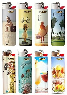 BIC Special Edition Vacation Series Lighters 2019 Set of 8 Lighters New Designs!