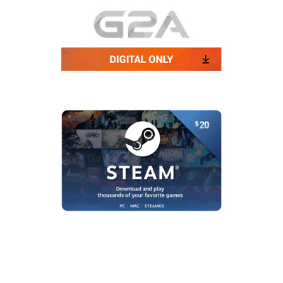 $20 Steam Card - 20 USD Prepaid Card - US dollar Code Steam Wallet Key US