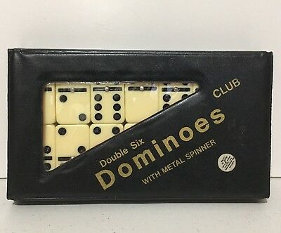 Quality Double Six Club Dominoes with Metal Spinners & Case