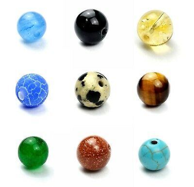 Semi Precious Gemstone Crystal Mineral Round Bead Healing Chakra Cleaning Stone