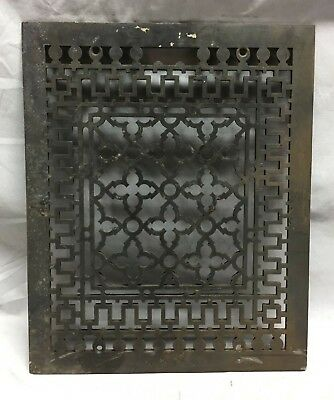 Antique Rectangular Heat Grate Grill Gothic Cold Air Return 12X15 160-19C