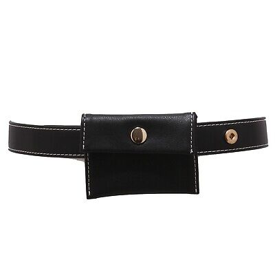 cintura bimba GIRL ELSY eco-leather black belt