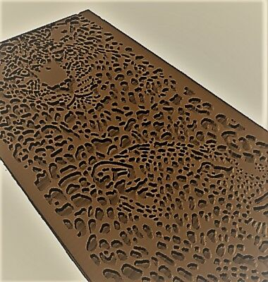 Leopard panno 3d model relief for cnc in STL file format
