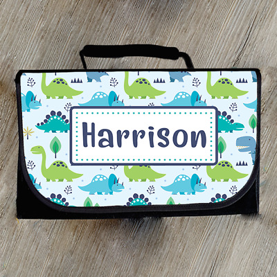 Personalised Dinosaur Mini Nappy Accessory Baby Changing Bag Mom Mummy To Be