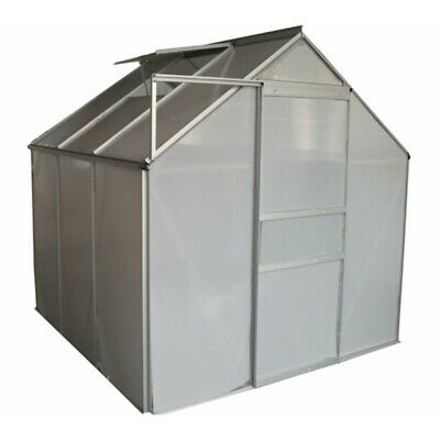 "ALEKO Outdoor Walk-In Poly-carbonate Greenhouse with Aluminum Frame 77""x75""x77"""